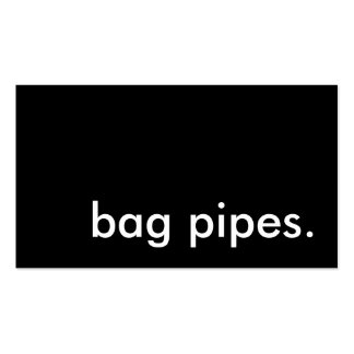 bag pipes. business card
