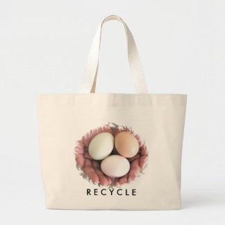 Bag Recycle Eggs Nested In Hands Photo