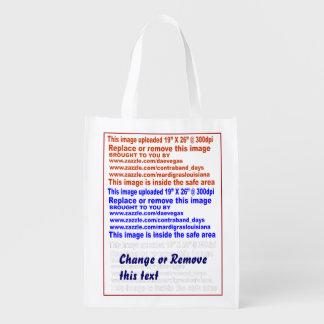 """Bag Reusable 50 lbs. Dim: 12"""" x 16""""x 5"""". Grocery Bag"""