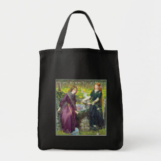 Bag: Rossetti - Dante's Vision of Rachel & Leah Grocery Tote Bag