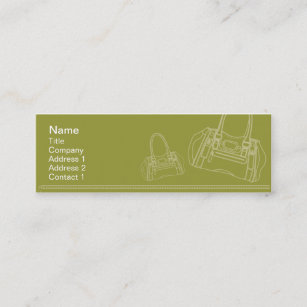 Shopping bag business cards templates zazzle bag skinny mini business card colourmoves
