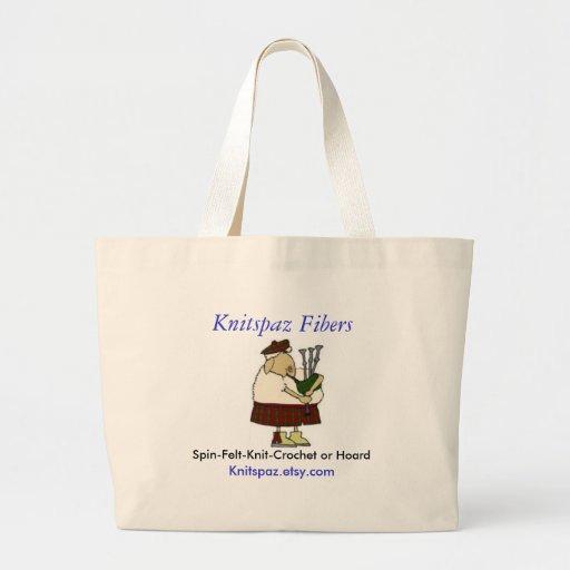 bag, Spin-Felt-Knit-Crochet or Hoa... - Customized Large Tote Bag