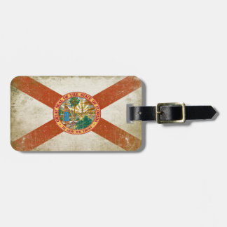Bag Tag with Distressed Flag from Florida