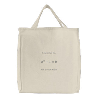 Bag: Thank your math teacher Embroidered Tote Bags