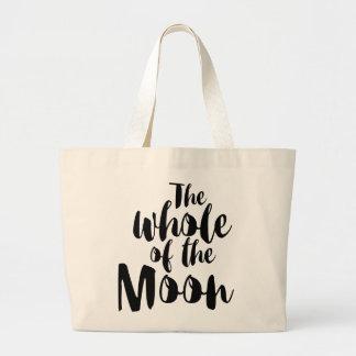 """Bag, """"The whole of the moon"""" Bolsa De Tela Grande"""