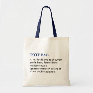 "Bag ""Tote bag"" definition - blue white/"