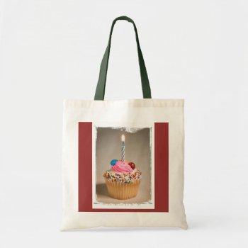 Bag  Tote  Cupcake  Birthday  Customize by creativeconceptss at Zazzle