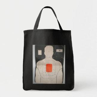 bag tote target bullet holes