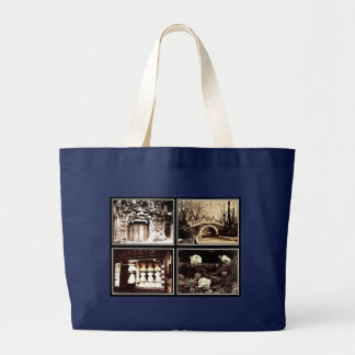 Bag-Vintage Photography-Eugene Atget Large Tote Bag