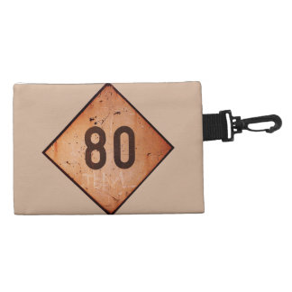 Bag: Vintage Railroad 80 Speed Train Sign. Clip-on Accessory Bag