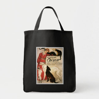 "Bag:  Vintage Steinlen ""Clinique Cheron"" Grocery Tote Bag"