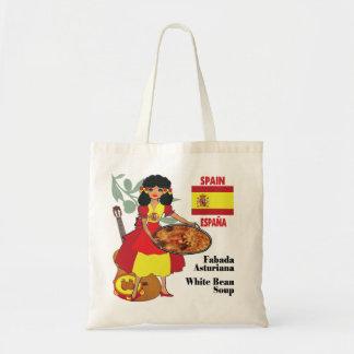 Bag w/illustration-Spain/Espana-Fabada