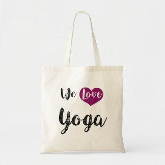 """Bag, """"We love Yoga """" Tote Bag"""