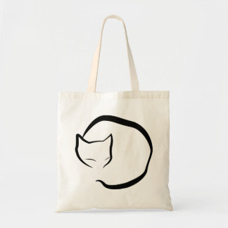 Bag with an sleeping cat in four lines