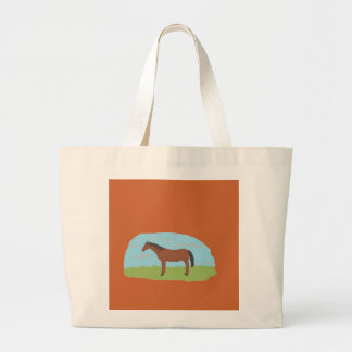 Bag with bay horse