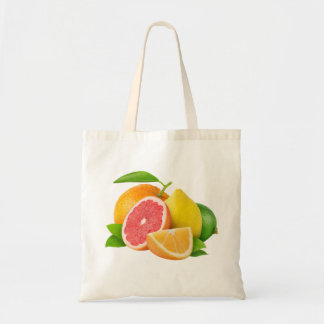 Bag with citrus fruits
