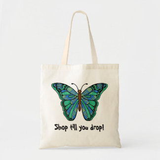 Bag with colorful butterfly print