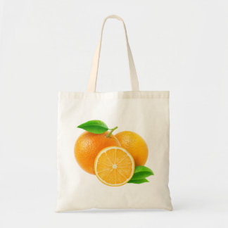 Bag with cut oranges