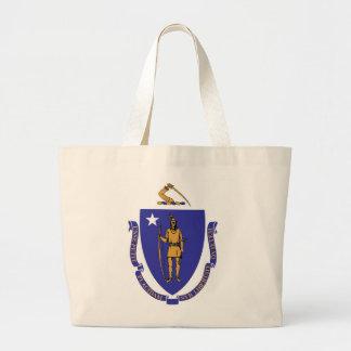 Bag with Flag of  Massachusetts State - USA