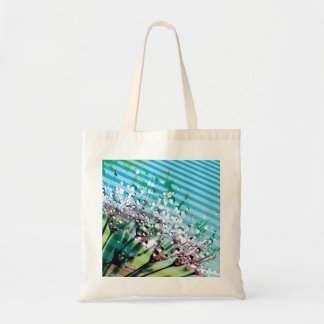 Bag with floral design Flower Waterdrops Stripes