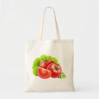 Bag with fresh tomatoes