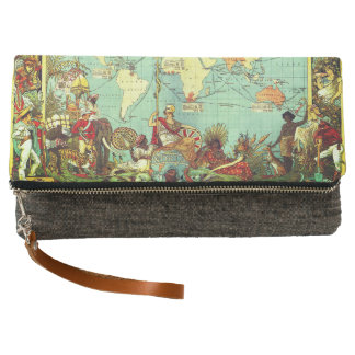Bag with map design