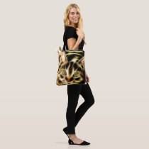 bag with shoulder strap with cat and leaves