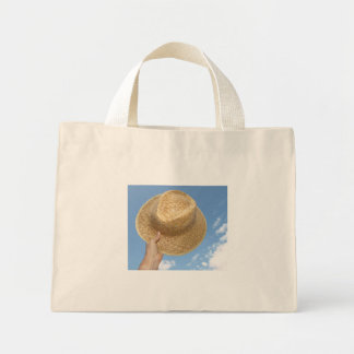 Bag with summer hat