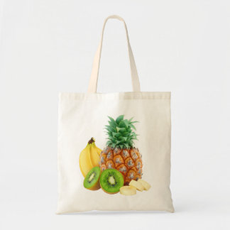 Bag with tropical fruits