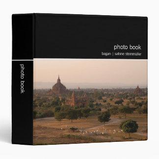 Bagan at Dusk Photo Book 3 Ring Binder
