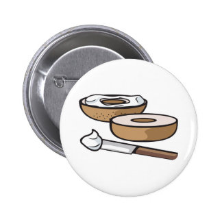 bagel and cream cheese button