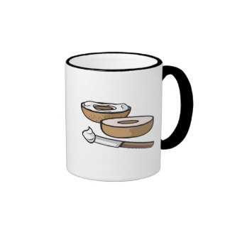 bagel and cream cheese coffee mugs