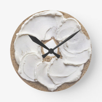 Bagel and Cream Cheese Novelty Round Clock