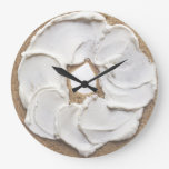 Bagel and Cream Cheese Novelty Round Wallclock