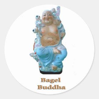 Bagel Buddha Classic Round Sticker
