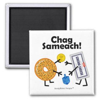 Bagel & Cream Cheese - Chag Sameach! Magnet