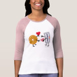 Bagel & Cream Cheese - Cute Valentine Hearts Love Tee Shirt