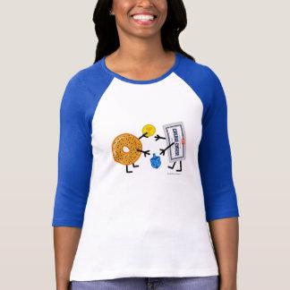 Bagel & Cream Cheese - Hanukkah (Customizable) T-Shirt