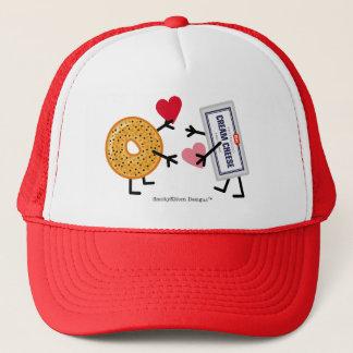 Bagel & Cream Cheese - Valentine Hearts Love Trucker Hat