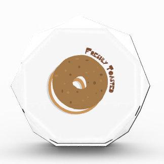 Bagel Freshly Toasted Acrylic Award