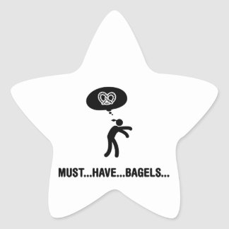 Bagel Lover Star Stickers