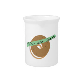 Bagel Plain And Simple Drink Pitchers
