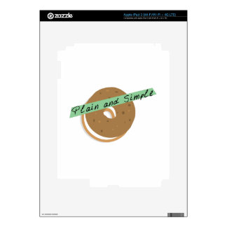 Bagel Plain And Simple iPad 3 Decals
