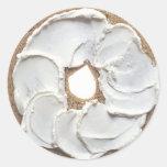 Bagel Round Stickers