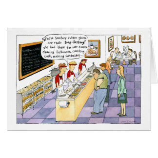 Bagel Shop Cartoon Card