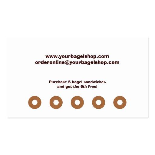 Bagel Shop Rewards Business Card (back side)