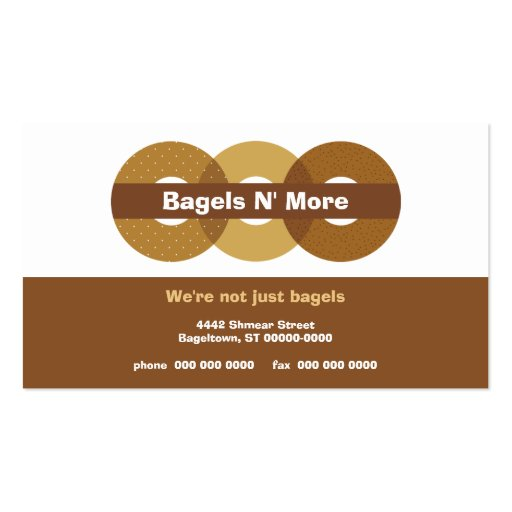 Bagel Shop Rewards Business Card (front side)