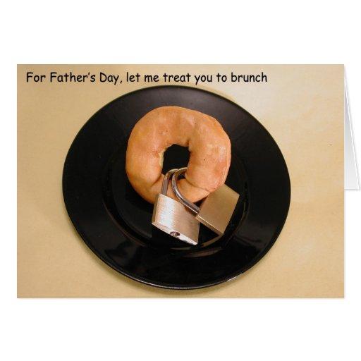 Bagel w Locks Father's Day Card