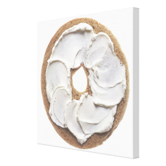 Bagel with Cream Cheese Canvas Print