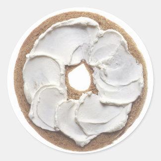 Bagel with Cream Cheese Classic Round Sticker